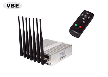 16W Wifi GPS Mobile Network Jammer Device Remote Control 7PCS Omni Antennas