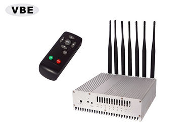 7 Brands 16W GPS Signal Jammer Remote Control VHF / UHF / GSM Silver Color